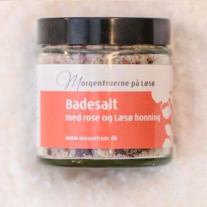 Badesalt med rose og Læsø Honning