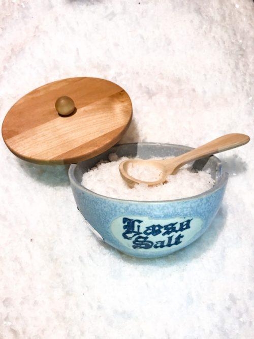 gavesæt - saltkar med låg og ske
